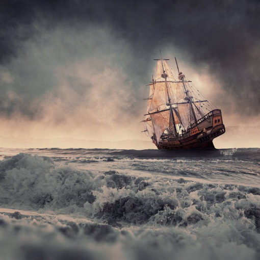FineArt_Creative_161_Sailing_In_The_Heavy_Storm
